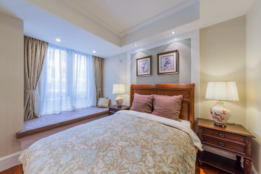 美式 卧室图片来自紫禁尚品设计师李擎在中建红杉溪谷美式风格的分享