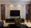合肥实创装饰|华润中心凯旋门-110平米-混搭风格装修-客厅装修效果图-合肥装修公司