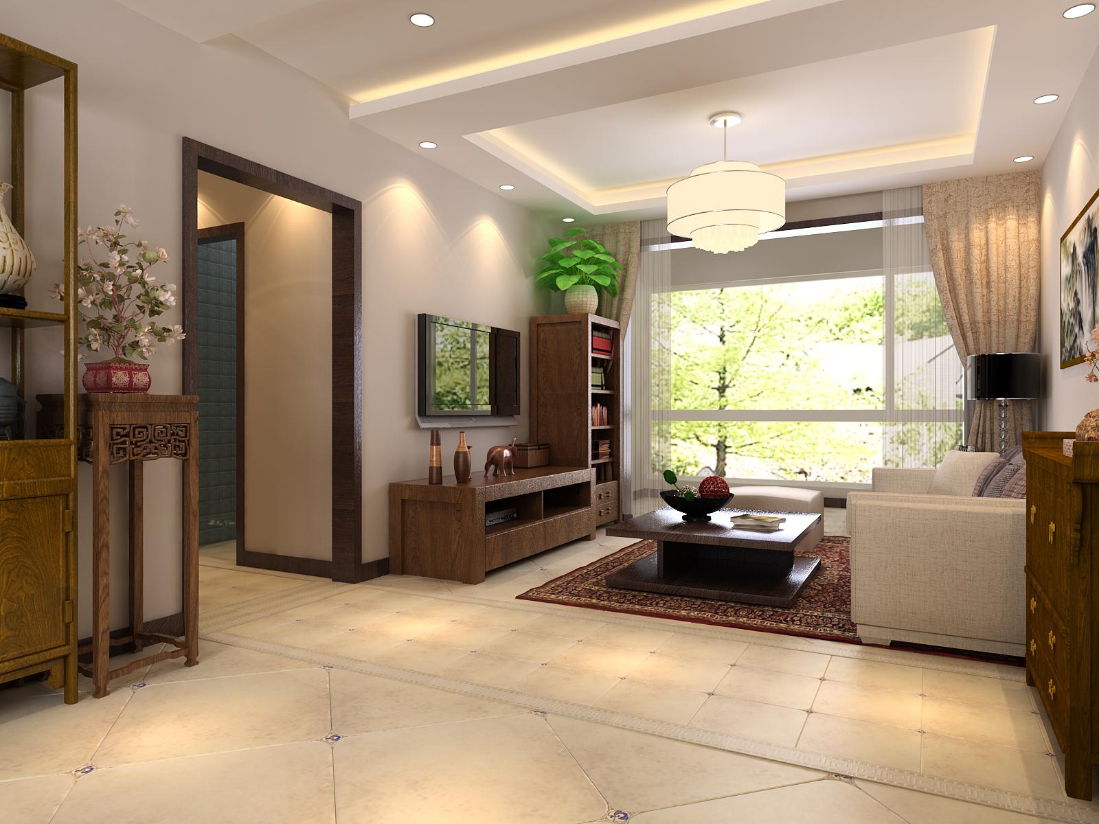 二居 青岛装修 装修公司 客厅图片来自青岛威廉装饰在保利里院里新中式设计的分享
