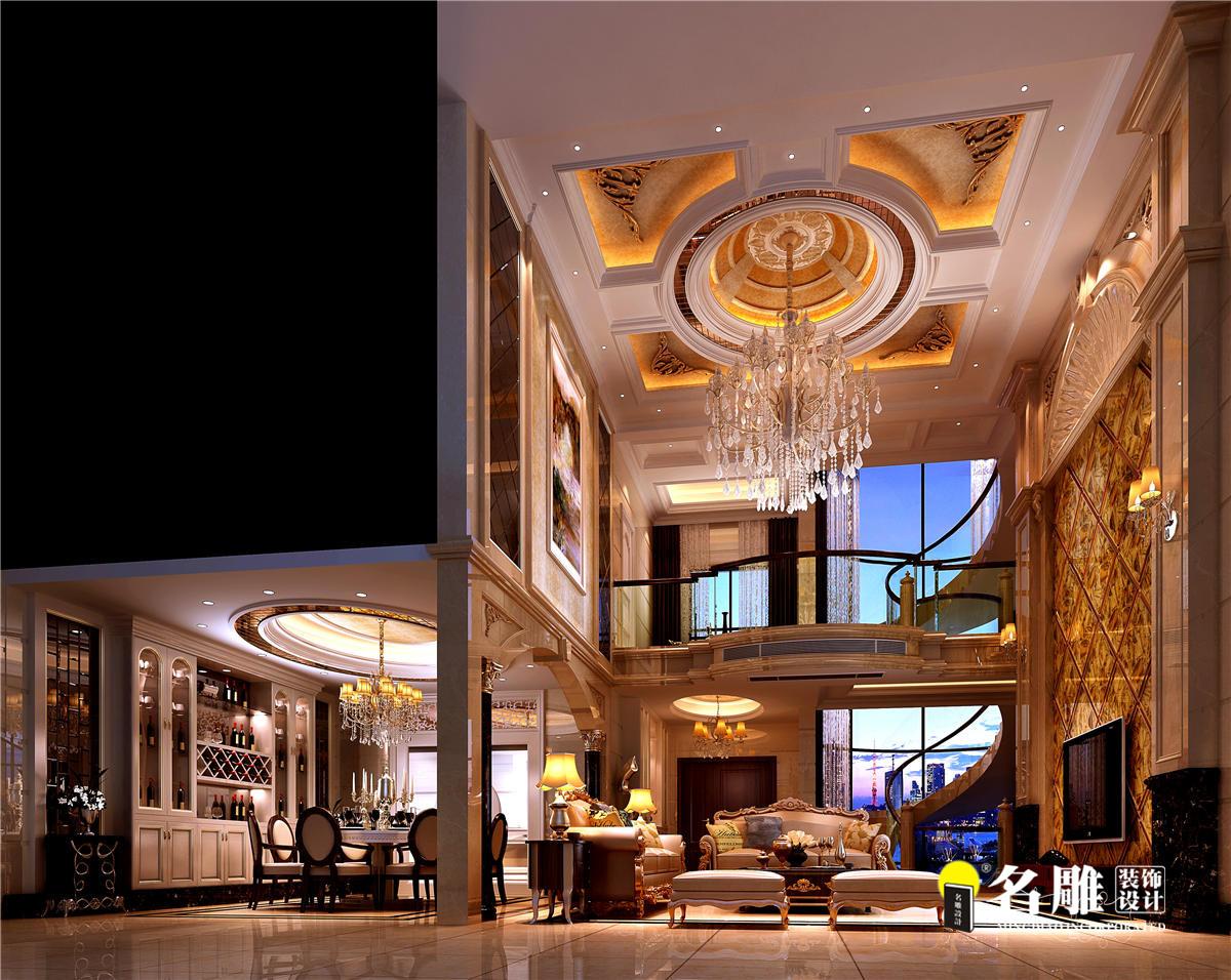 欧式新古典 别墅 成功人士 高档厚重 时尚温馨 客厅图片来自名雕装饰设计在星河丹堤欧式新古典别墅的分享
