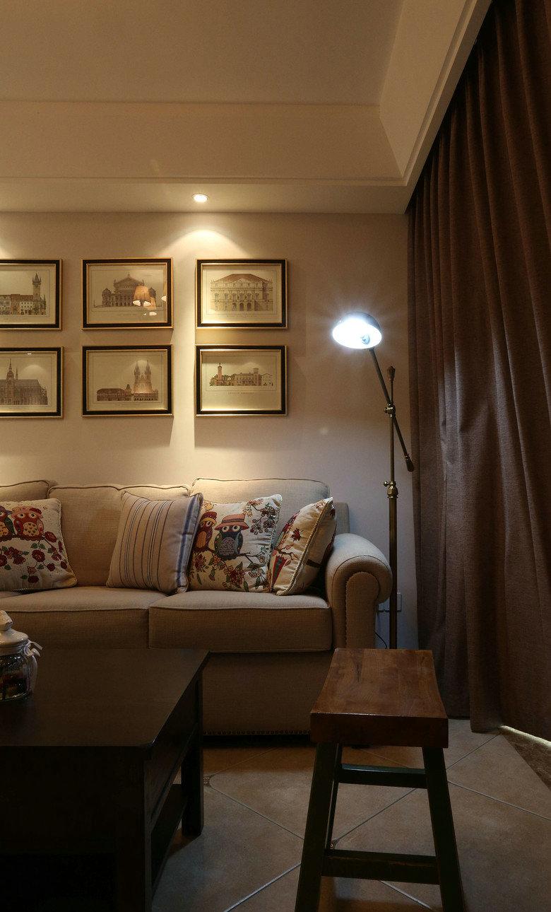 简约 三居 美式 简美 小资 清新 小清新 客厅图片来自佰辰生活装饰在缤纷夏日温馨之家 87平两室一厅的分享