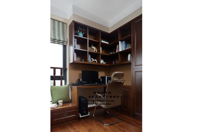 三居 混搭 小资 书房图片来自合肥飞墨李秀玲设计在灌木丛蓉的分享