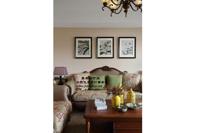 三居 混搭 小资 客厅图片来自合肥飞墨李秀玲设计在灌木丛蓉的分享