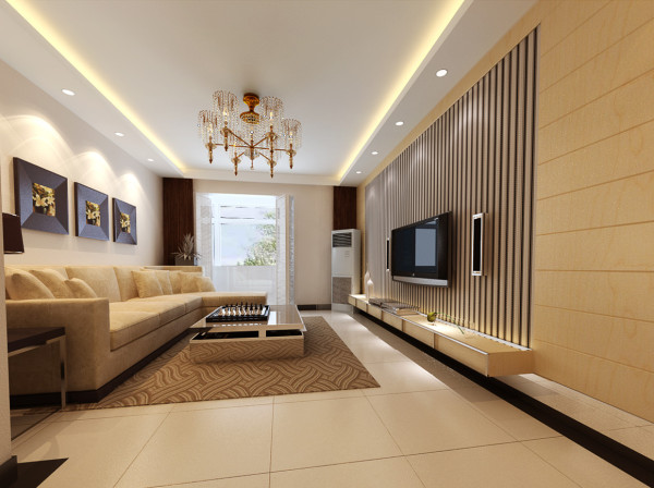 合肥实创装饰|苹果小镇-简约主义风格的特色装修-客厅装修效果图-合肥装修公司