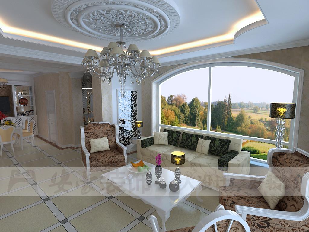 欧式 复式 客厅图片来自安豪装饰在东湖山庄『华丽奇特 』的分享