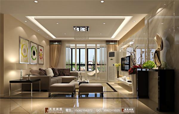 雍湖湾客厅细节效果图---高度国际装饰设计