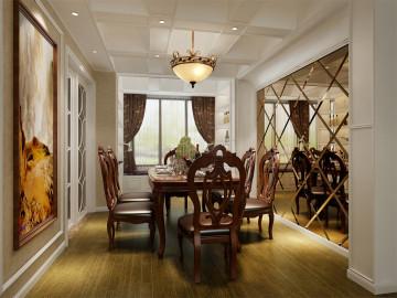 绿地东上海别墅装修现代美式风格