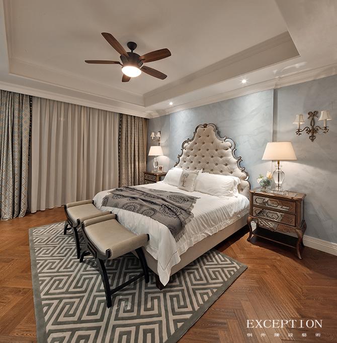 别墅设计 软装设计 室内设计 豪宅设计 例外设计 家居搭配 卧室图片来自例外软装设计在映画观邸--招商观园别墅软装设计的分享