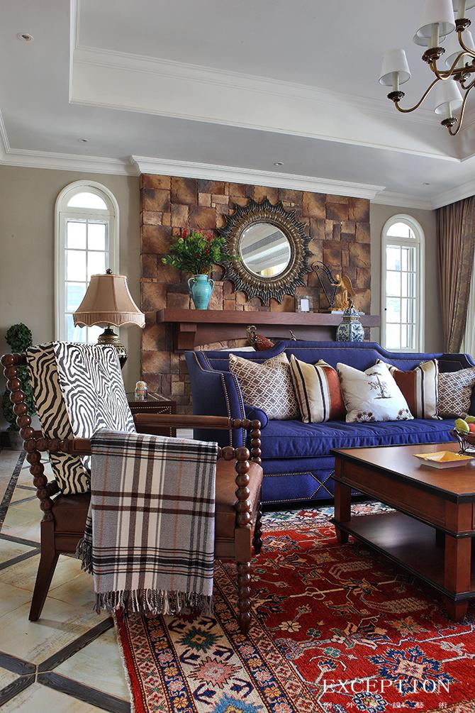 别墅设计 软装设计 室内设计 豪宅设计 例外设计 家居搭配 客厅图片来自例外软装设计在映画观邸--招商观园别墅软装设计的分享