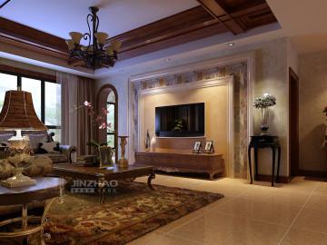 金地湖城大境161三居室古典风格