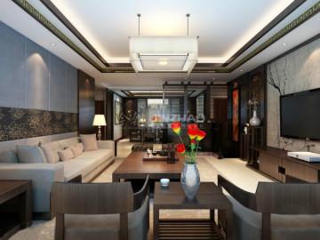 开元第一城120平三居室中式风格