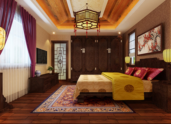 根据业主家里的意见风格定为新中式风格,色调为暖色调,方案中通过对壁纸、地砖和墙面造型以及其它的一些装饰营造出了一种简单、大气、文化底蕴丰富的感觉,既满足了业主对中式风格的喜爱,又展现了简洁大气的感觉。