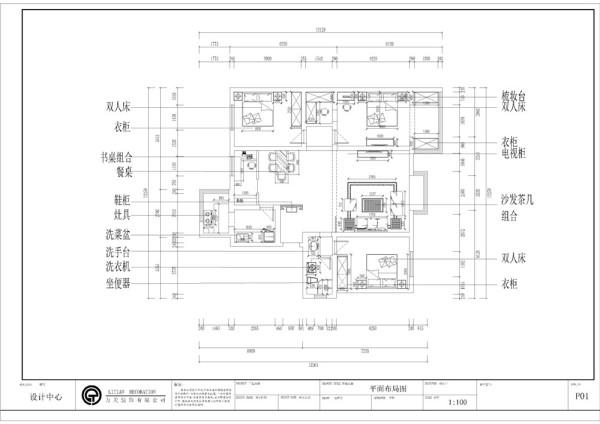 本设计为欧式田园混搭风格富源花园3室2厅1厨一卫120㎡,首先原始结构上分析,从入户门进入,左边是卫生间和卧室,右边是厨房,过了入户门便是客厅和餐厅然后就是主卧和次卧。