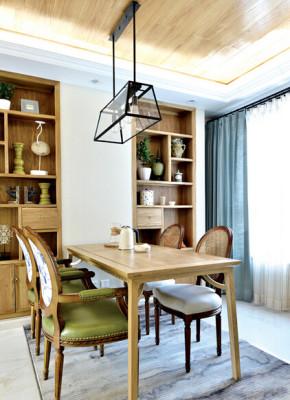 三居 宜家 白领 小资 餐厅图片来自武汉实创装饰在天纵水晶郦都-128平-宜家风的分享