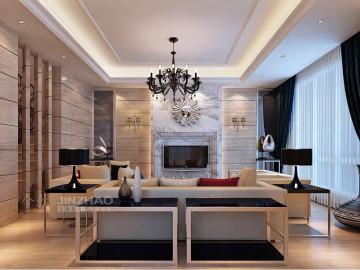 浐灞半岛简约风格复式装修设计