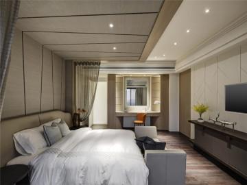 泰丰观湖145平米三居室现代设计