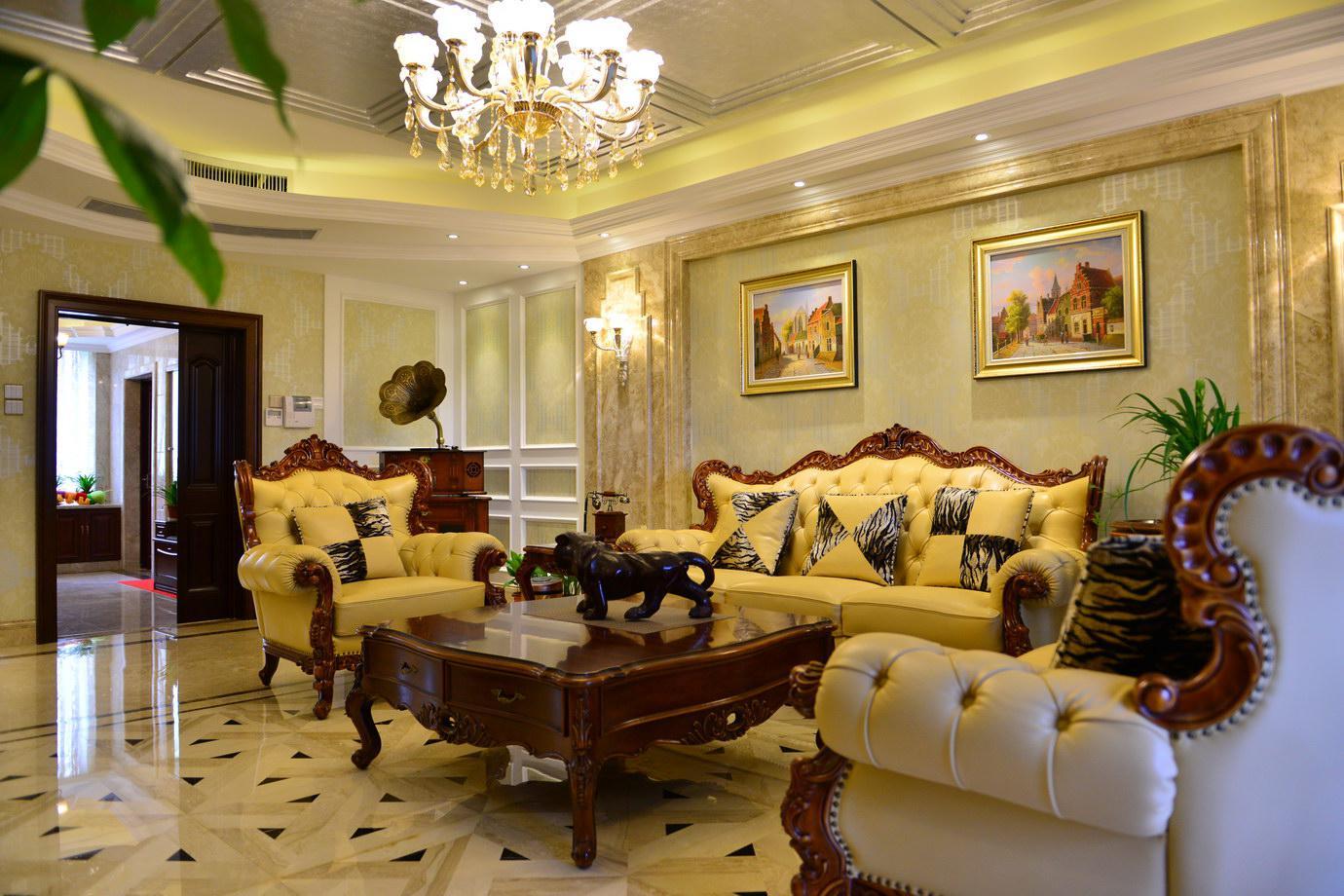 别墅 新古典 东易日盛 王斌 客厅图片来自武汉东易日盛在城投翰城--新古典--王斌的分享