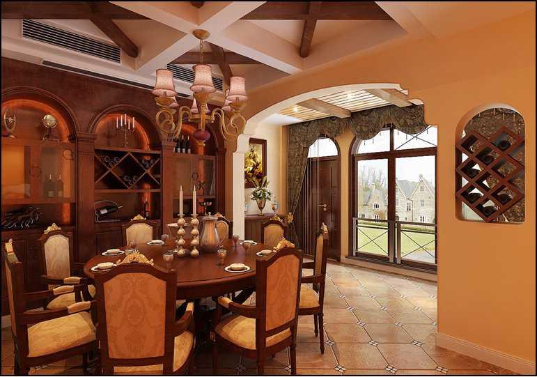 别墅 美式 王斌 东易日盛 餐厅图片来自武汉东易日盛在城投翰城--美式--王斌的分享