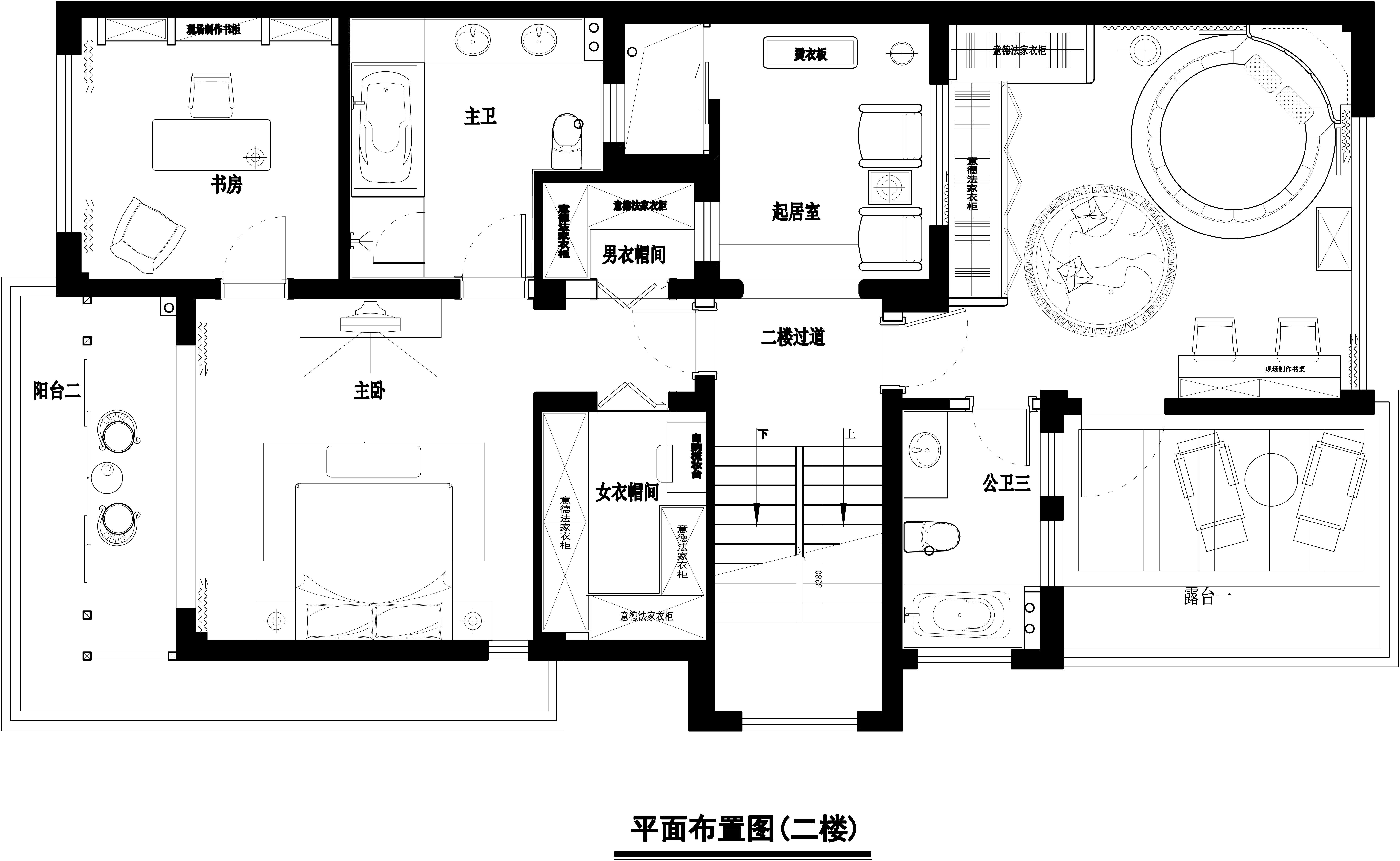 别墅 美式 王斌 东易日盛 户型图图片来自武汉东易日盛在城投翰城--美式--王斌的分享