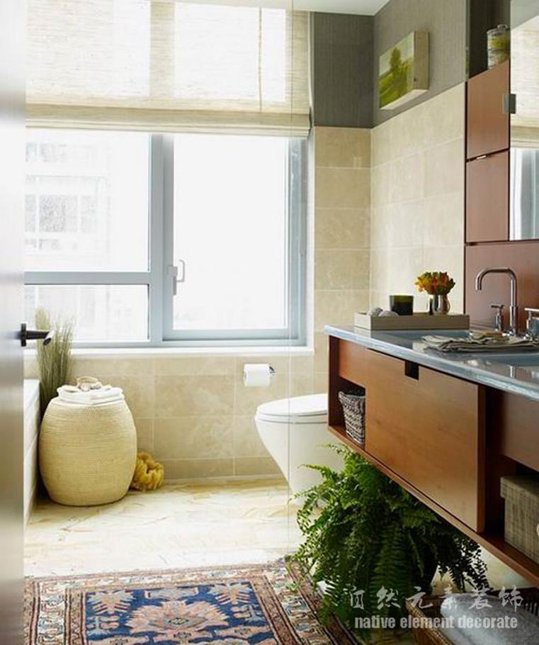 美式 二居 梅林一村 卫生间图片来自自然元素装饰在梅林一村美式风格装修案例的分享