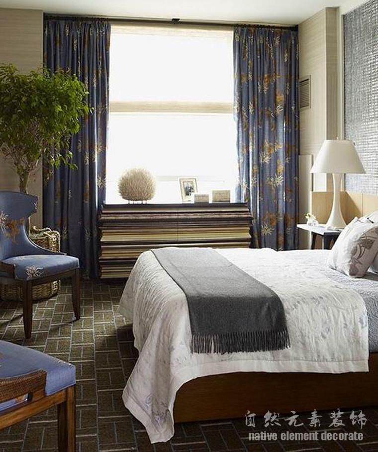 美式 二居 梅林一村 卧室图片来自自然元素装饰在梅林一村美式风格装修案例的分享