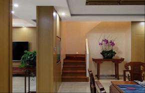 简约 混搭 四居室 中式 白领 80后 小资 楼梯图片来自成都V2装饰在保利心语新中式风格的分享