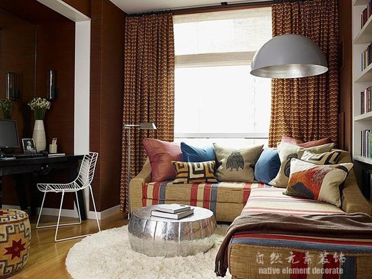 美式 二居 梅林一村 书房图片来自自然元素装饰在梅林一村美式风格装修案例的分享