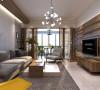 吟峰苑125平台式简约三居室装修