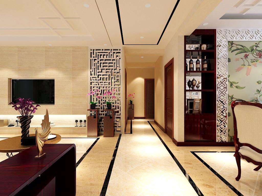 玄关图片来自百家装饰-小李在保利达江湾城140平中式风格的分享