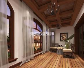 美式 新古典 别墅 佳兆业 效果图 阳台图片来自长沙东易日盛装饰在佳兆业-美式风格的分享