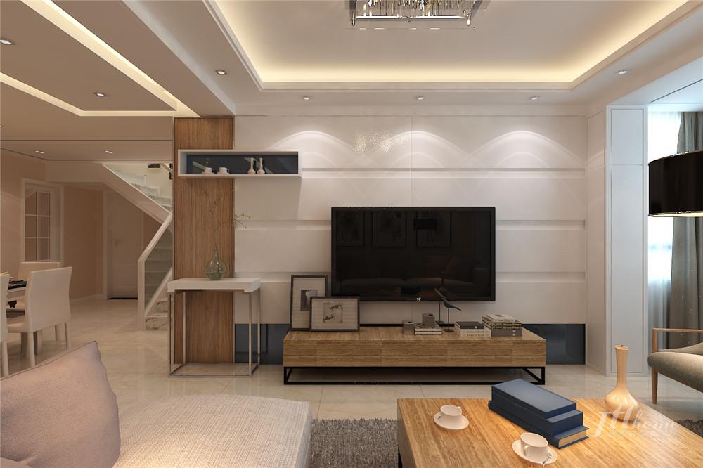 简约 复式 舒适 宁静 客厅图片来自居泰隆深圳在景蜜村现代简约五居室的分享