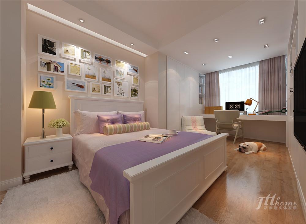 简约 复式 舒适 宁静 卧室图片来自居泰隆深圳在景蜜村现代简约五居室的分享
