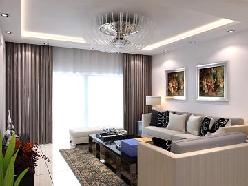 派华新都三居室现代简约装修案例