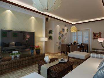 乐城现代简约三居室