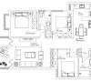 吟峰苑125平米三居室台式简约
