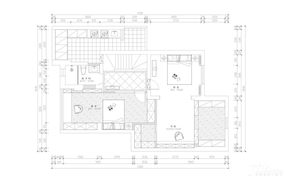 简约 复式 舒适 宁静 户型图图片来自居泰隆深圳在景蜜村现代简约五居室的分享