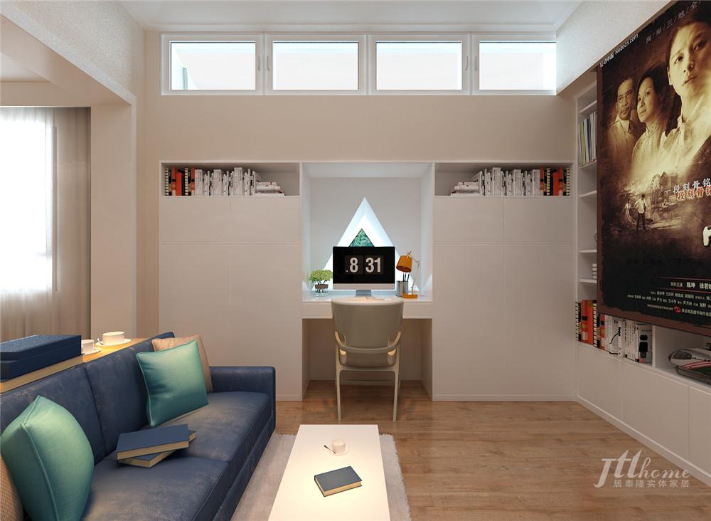 简约 复式 舒适 宁静 书房图片来自居泰隆深圳在景蜜村现代简约五居室的分享