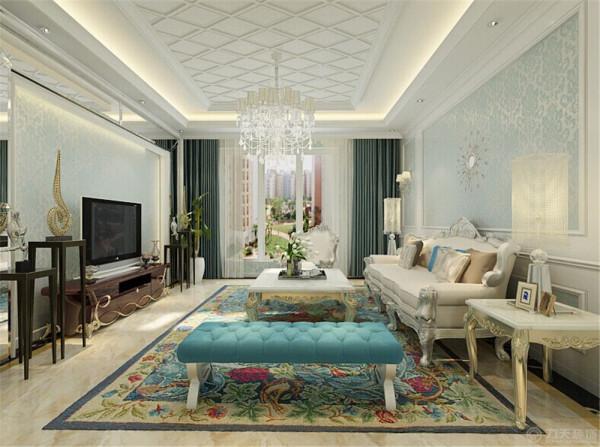 此套方案设计为简欧的装饰风格。欧式风格是一种来自欧罗巴洲的风格。