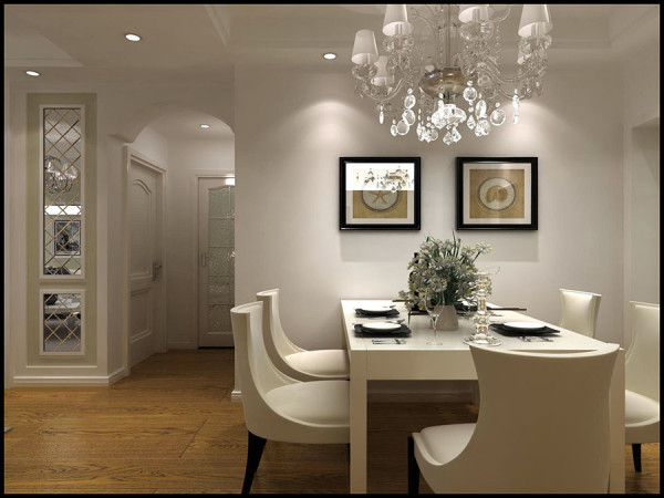 华颐蓝天80㎡两居室简欧风格装修案例房子不大也可以讨好老婆