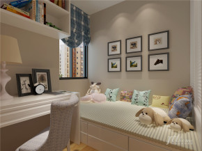 简约 宁静 舒适 二居 白领 儿童房图片来自居泰隆深圳在海心汇福园现代简约二居室的分享