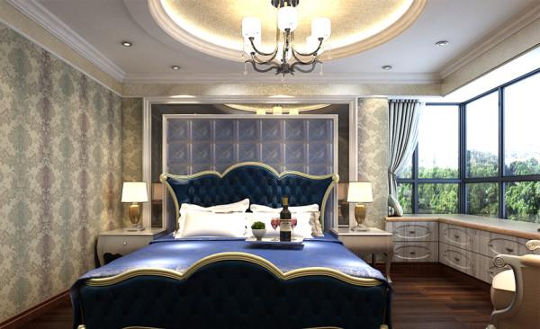 【保利花园】法式风格卧室装修效果图