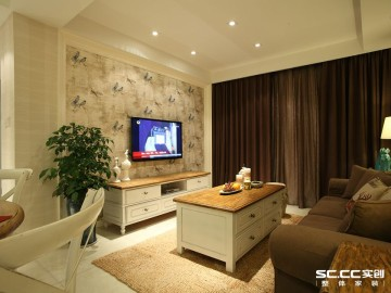小城之春三居室美式风格装修设计