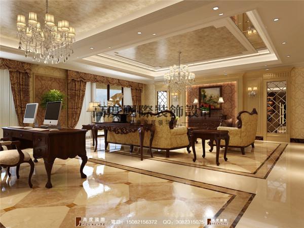 龙湖世纪峰景客厅细节效果图---高度国际装饰设计