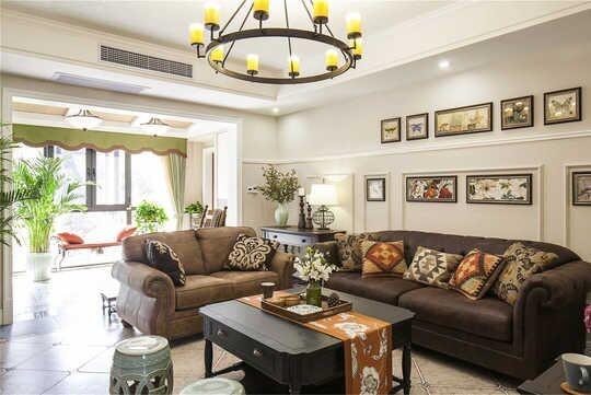 以单一空间来规划,美式风格不像欧式风格一样需要整套房子配合,美式家具因其具有特殊的异国味道,单独一件或多件产品便能很好地体现出美式的特点