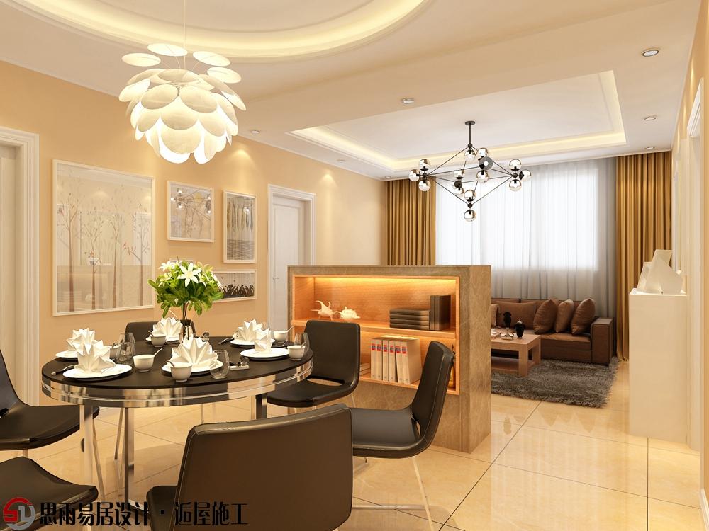 二居 收纳 简约 现代 小资 客厅图片来自思雨易居设计在【扬州装修设计】河南150平现代的分享