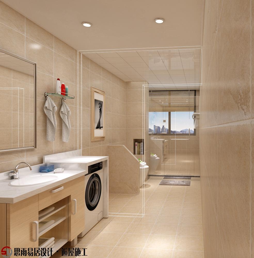 二居 收纳 简约 现代 小资 卫生间图片来自思雨易居设计在【扬州装修设计】河南150平现代的分享