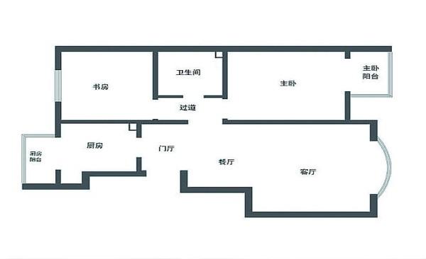 春江家园102平三居室装修图集-原始结构图