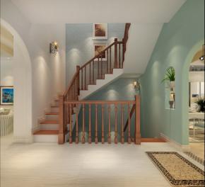 简约 欧式 地中海 田园 别墅 复式 80后 小资 楼梯图片来自北京生活家家居装饰在地中海清凉惬意 温馨视觉空间的分享