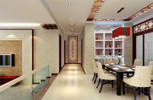 例如,厅里摆一套明清式的红木家具,墙上挂一幅中国山水画等,传统的书房自然烧不来书柜、书案以及文房四宝。