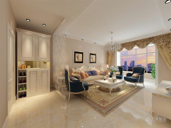 这是一套海通园110㎡2室1厅1厨1卫。此次设计方案定义为简欧风格。